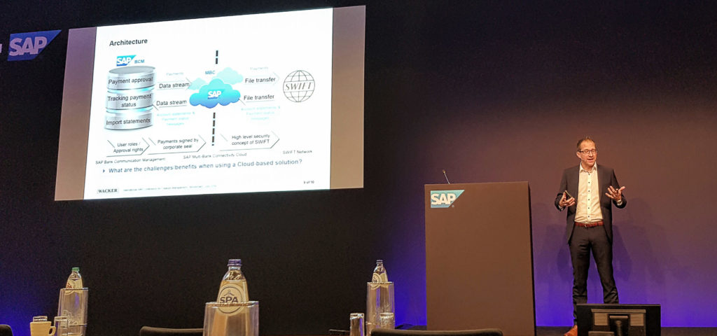 "PAYMENTSCC - Steffen Karsch spricht zum Thema ""SAP Multi-Bank Connectivity – Wacker's Journey to Infinity and Beyond"""