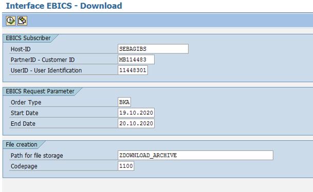 EBICS Downloadbereich