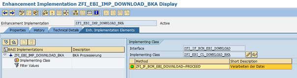 Interface EBICS - Download BAdI