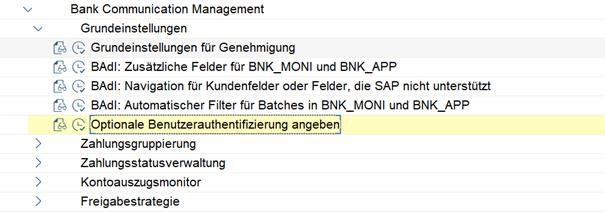 SAP BCM Customizing