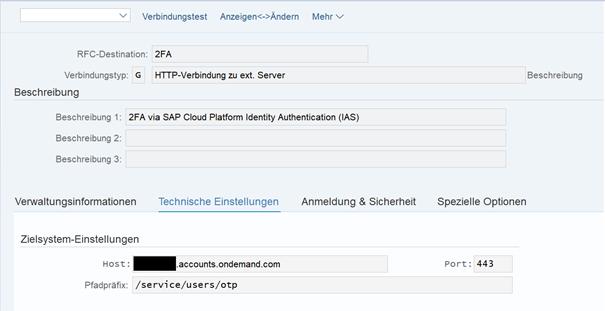 2FA SAP Cloud Plattform